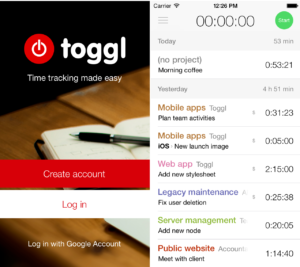 this is the logo for the IOS toggl free app